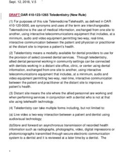 Icon of Tele-dentistry Administrative Rules V5 9-12-18 KMS
