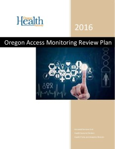 Icon of Oregon Access Monitoring Review Plan